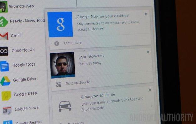 Chrome Beta für den Desktop jetzt mit Google Now-Unterstützung