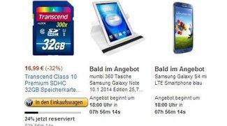 Deals des Tages: Samsung Galaxy S4, Note 10.1 Hülle, Acer Travelmate und mehr