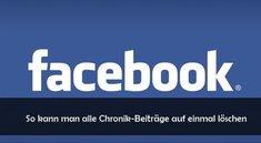 Facebook: Chronik löschen und von Inhalten säubern