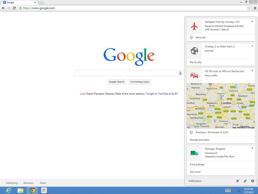 Google Now jetzt auch für die Beta-Version des Chrome-Browsers auf dem PC