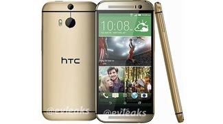 """HTC One (2014): Erstes Pressebild des """"Völlig neuen HTC One"""" in Gold geleakt"""