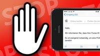 """Vorsicht: Deutsche """"iTunes ID""""-Phishing-Mails im Umlauf"""
