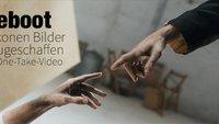 Sechs Ikonen Bilder im One-Take-Video neuerschaffen