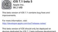 iOS 7.1 Beta 5 veröffentlicht: Neuerungen im Überblick
