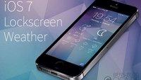 iOS 7 Lockscreen Weather: Wetter-Widget für den Sperrbildschirm [Cydia]