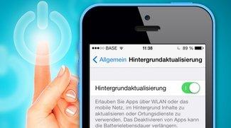 iPhone Stromverbrauch senken: Hintergrundaktualisierung deaktivieren (Tipp)