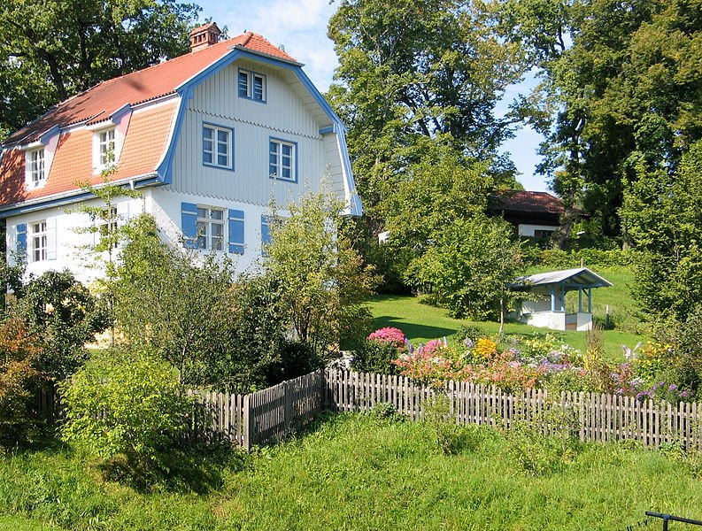 Das Haus von Gabriele Münter in Murnau (Quelle: Heide Bauer  Wikipedia)