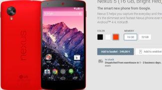 Google Nexus 5 in Rot offiziell vorgestellt!