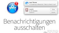 OS X 10.9 Mavericks: Push Benachrichtigungen ausschalten