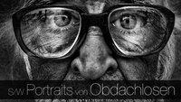 Schwarz-Weiß Portraitfotografie von Obdachlosen