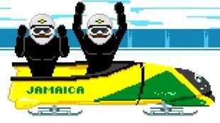 Cool Runnings revisited: Der Jamaika-Bob von Olympia 2014 im 8Bit-Winter-Games-Video