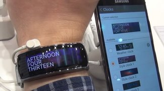 Samsung Gear Fit: Smarter Activity-Tracker im Hands-On-Video [MWC 2014]