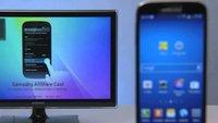Screen Mirroring mit dem Samsung Galaxy S4 - Auf den Schirm
