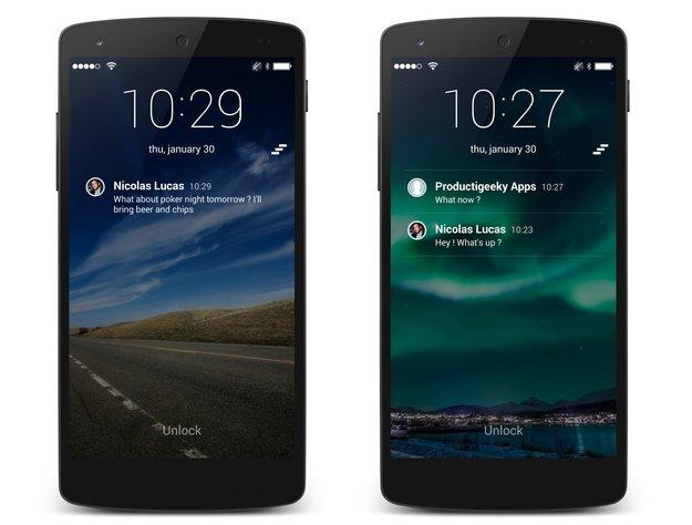SlideLock: Benachrichtigungen direkt auf dem Lockscreen & mehr