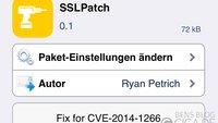 SSLPatch stopft SSL-Sicherheitslücke ohne Firmware-Update [Cydia]
