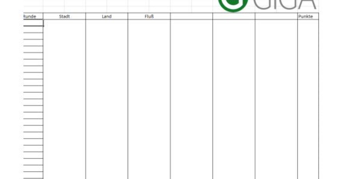stadt land flu vorlage excel und pdf download giga