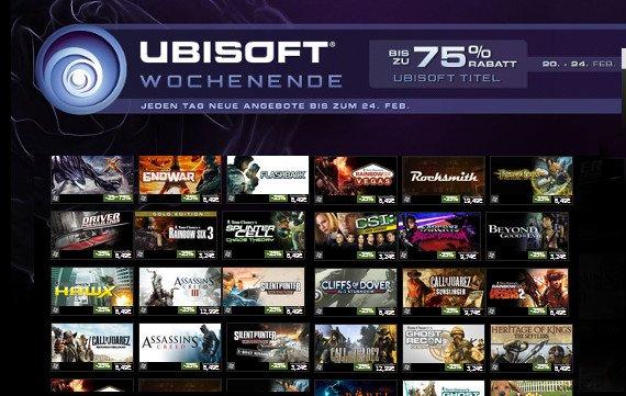 Steam: Ubisoft-Wochenende vom 20. bis 24. Februar