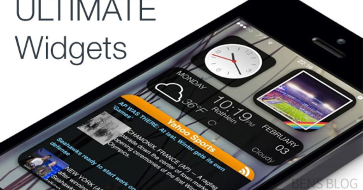 Ultimate Widgets: Homescreen Widgets für iOS 7 – GIGA