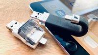 Gibt es einen USB-Stick oder USB-Adapter für iPad und iPhone?
