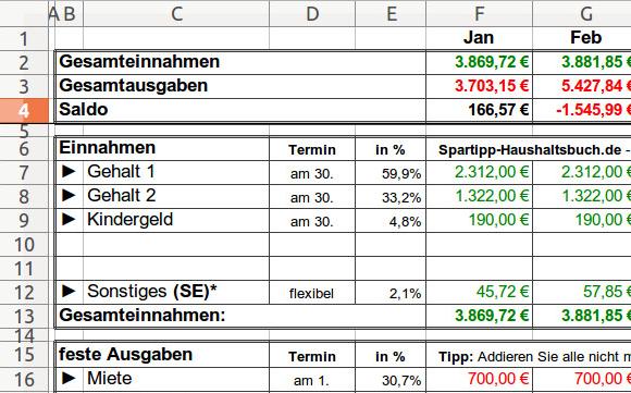 Excel Haushaltsbuch Download – GIGA