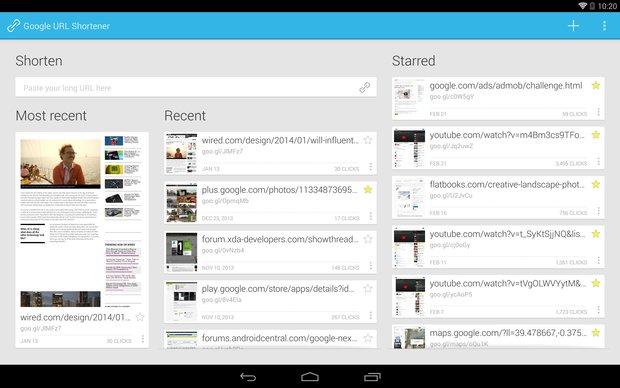 Goo.gl: Neue Android-App bringt URL-Shortener aufs Smartphone und Tablet