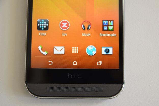 HTC One (M8): HTC-Manager erklärt, warum der schwarze Balken unter dem Display notwendig ist