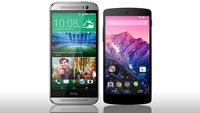 HTC One M8 und Nexus 5 im Vergleich