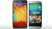 HTC One (M8) und Samsung Galaxy Note 3 im kurzen Vergleich