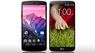 Nexus 5 vs. LG G2: Die technischen Daten im direkten Vergleich