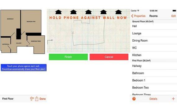 mit roomscan den raum in sekundenschnelle vermessen giga. Black Bedroom Furniture Sets. Home Design Ideas