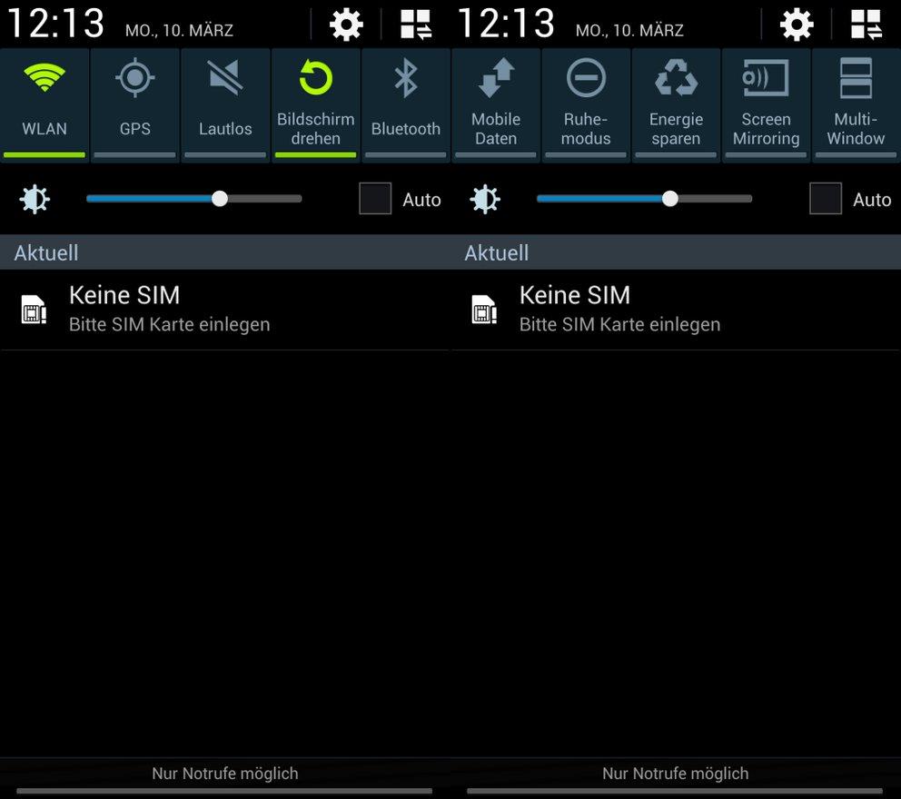 Samsung Galaxy S4: Quick Toggles und Schnelleinstellungen ...