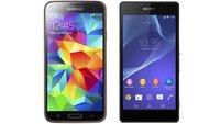 Sony Xperia Z2 vs. Samsung Galaxy S5: Die technischen Daten im Vergleich