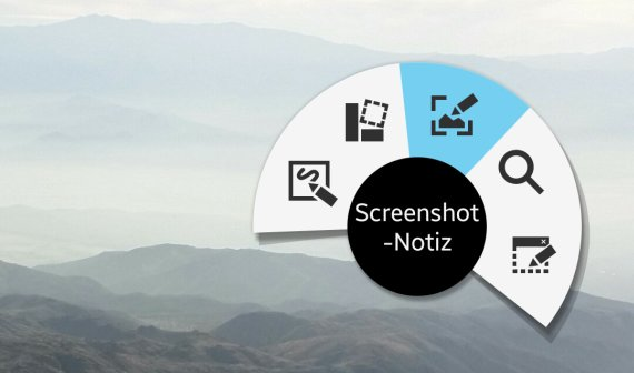 S Pen Apps: Screenshot-Notiz