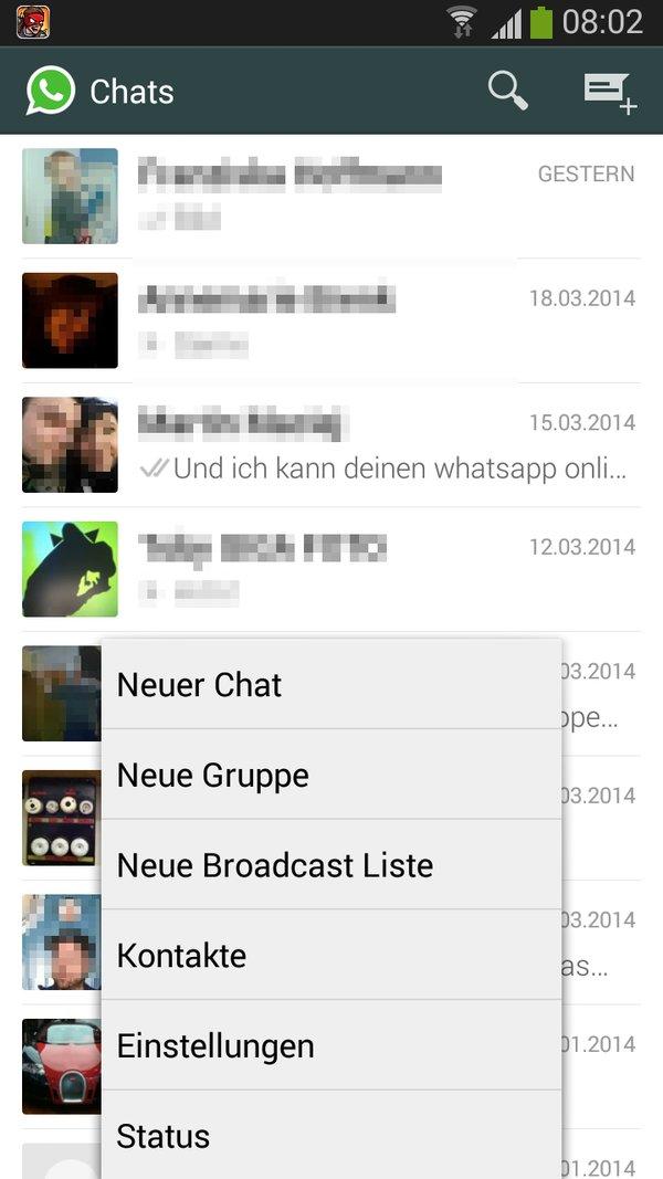 Whatsapp Zuletzt Online Status Ausschalten Android Bild