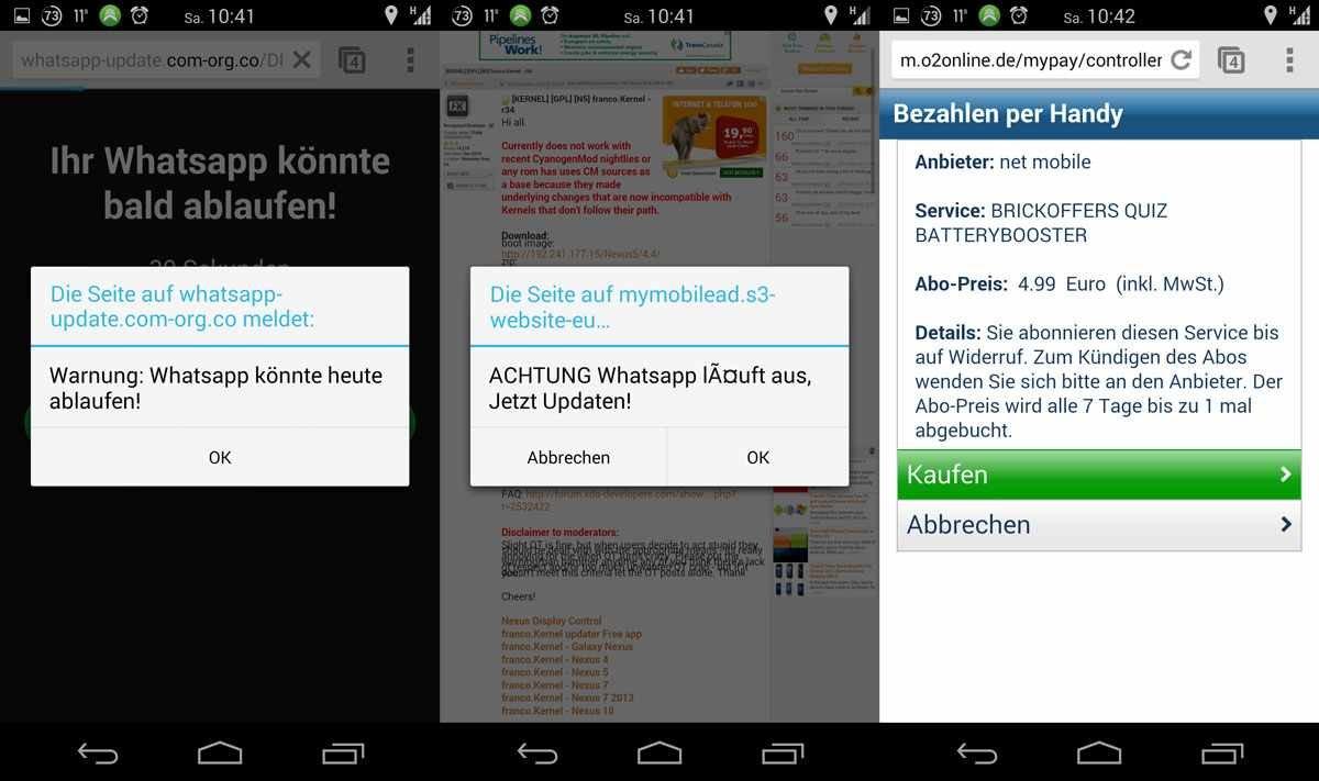 Falsches Whatsapp-Update Lockt Nutzer In Abofalle
