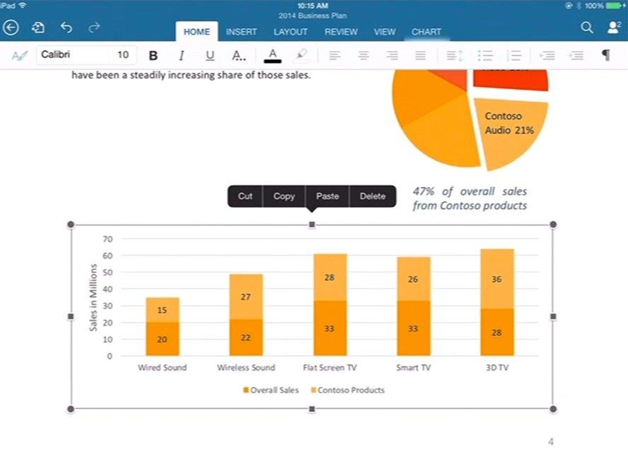 Microsoft Office für iPad: Word