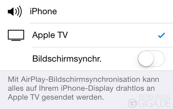 AirPlay ohne Bonjour: Verstecktes Feature in Apple TV Software 6.1 und iOS 7.1
