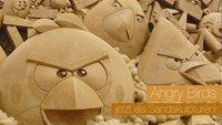 Angry Birds jetzt auch als Sandskulpturen
