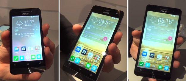 ASUS Zenfone 4, 5 &amp&#x3B; 6: Schicke Einsteiger-Smartphones im Hands-On-Video [MWC 2014]