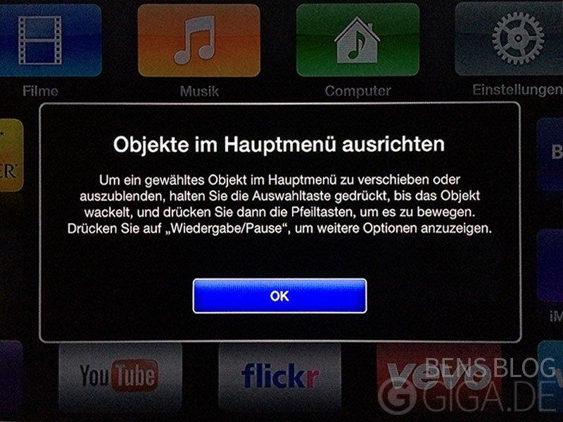 Apps auf dem Apple TV ausblenden