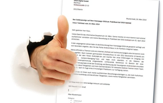 Zeilenabstand Bewerbungsanschreiben 2014 Anschreiben