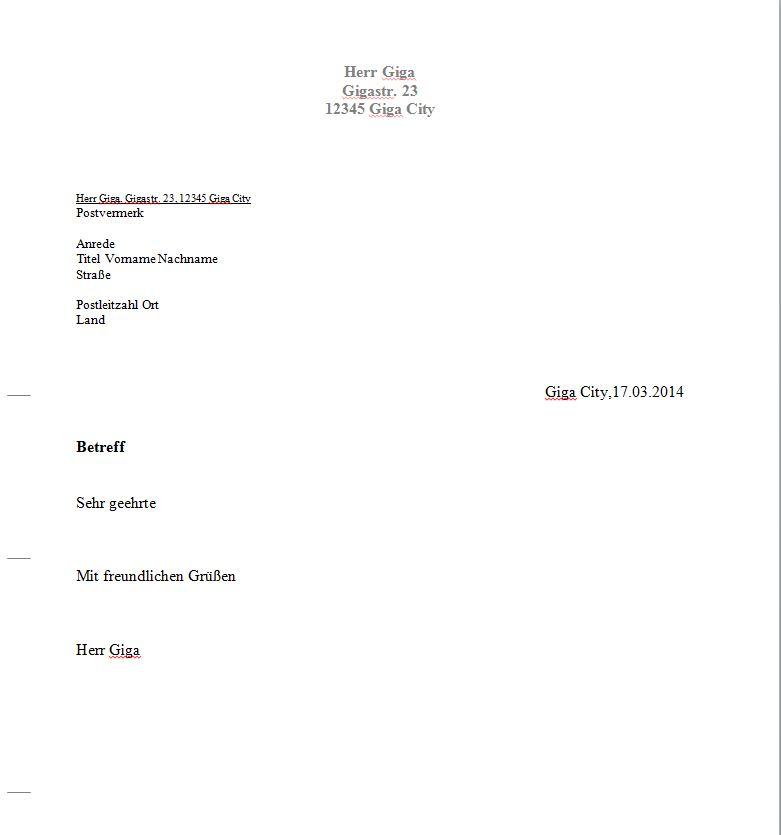 briefvorlage word download giga