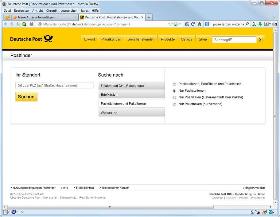 dhl packstationfinder