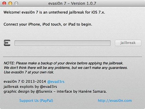 evasi0n 7 Version 1.0.7