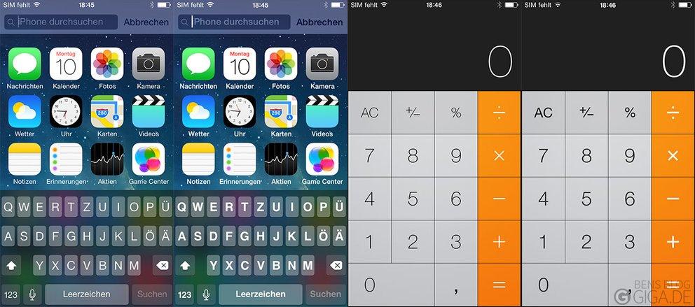 iOS 7.1 - Fetter Text für mehr Elemente