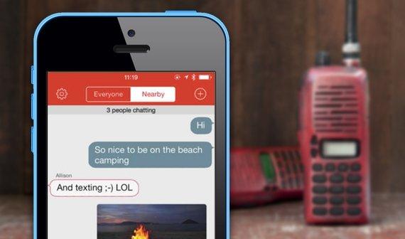 """Nachrichten mit iPhone und iPad ohne Internet und Mobilfunk senden: Das """"Walkie-Talkie-Netz"""""""