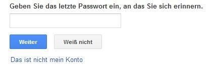 passwort wiederherstellen gmail