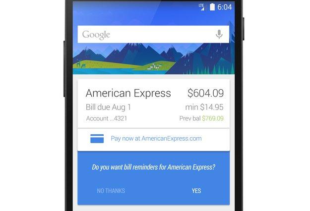 Google Now: Zukünftig mit Anzeige von fälligen Rechnungen [Gerücht]