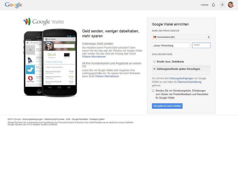 Google Konto Zahlungsmethode