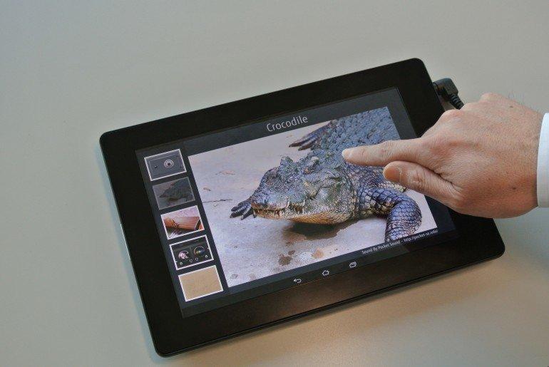 fujitsu arbeitet an einem haptisch sensorischen tablet endlich f hlen was man sieht giga. Black Bedroom Furniture Sets. Home Design Ideas